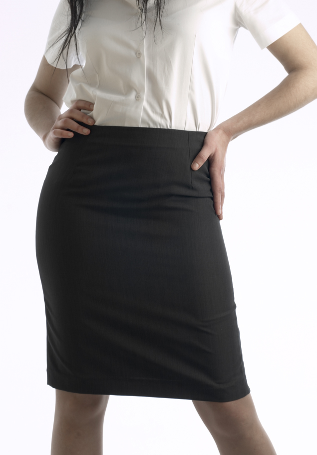 UNPOCKETED MICROFIBRE SKIRT
