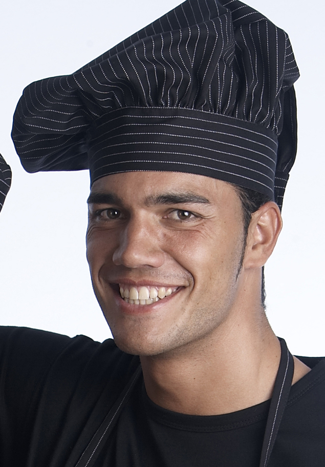 CHEFS HAT-PINSTRIPE
