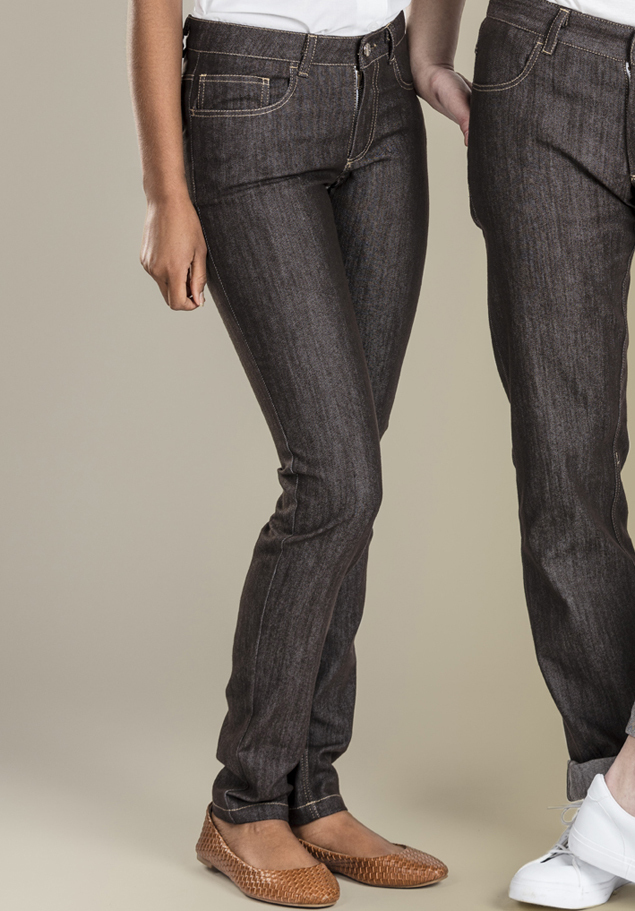 WOMEN'S SLIM TROUSERS.DENIM