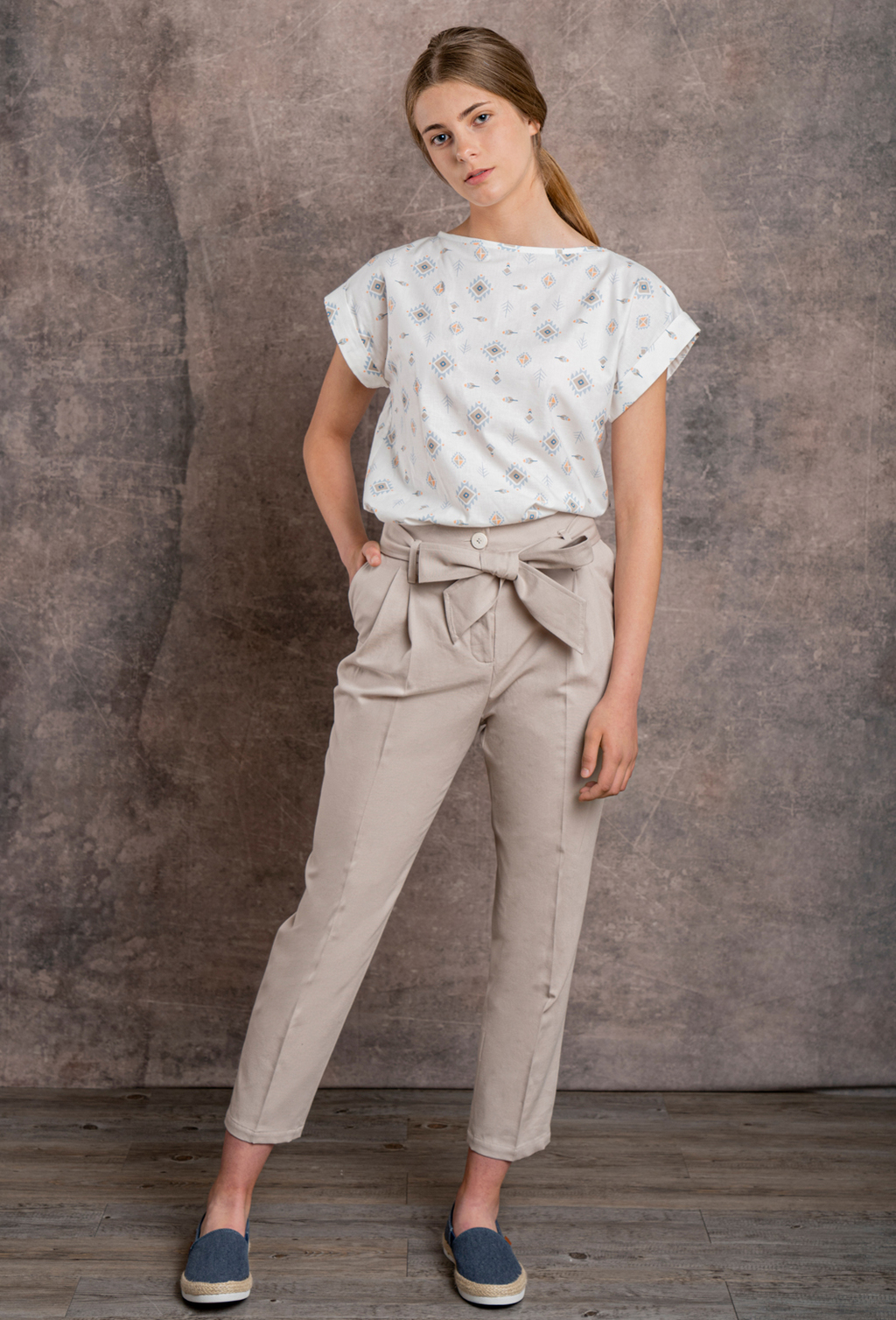 WOMEN'S TROUSERS LOOP ORGANIC FABRIC