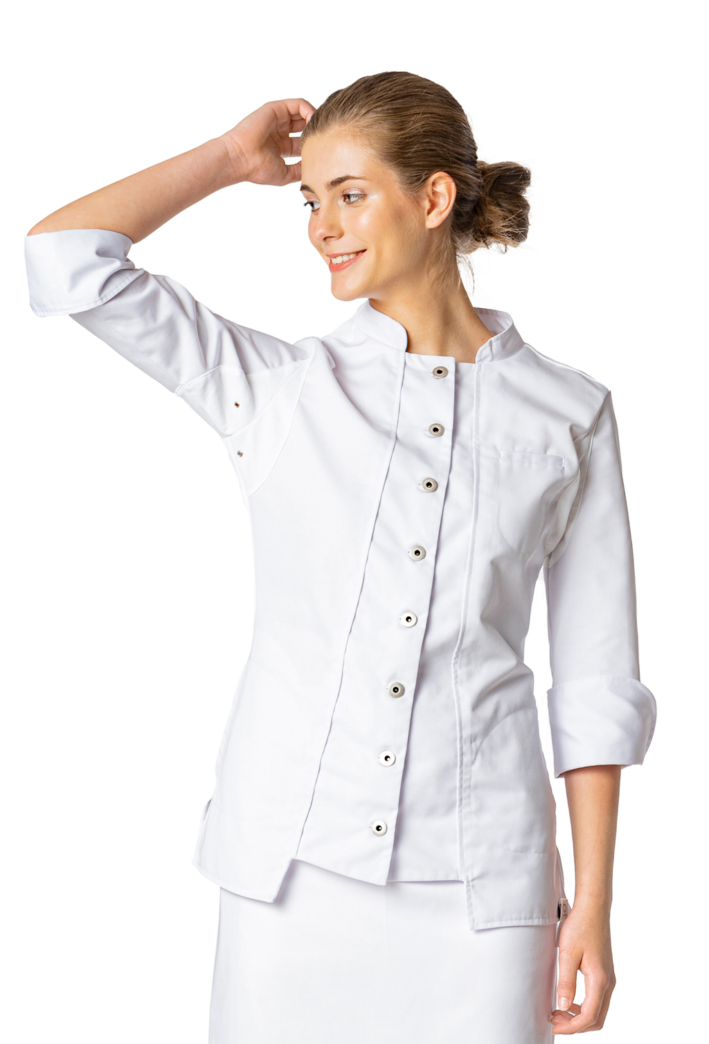 WOMEN'S CHEF JACKET RECYCLED AND ORGANIC FABRIC