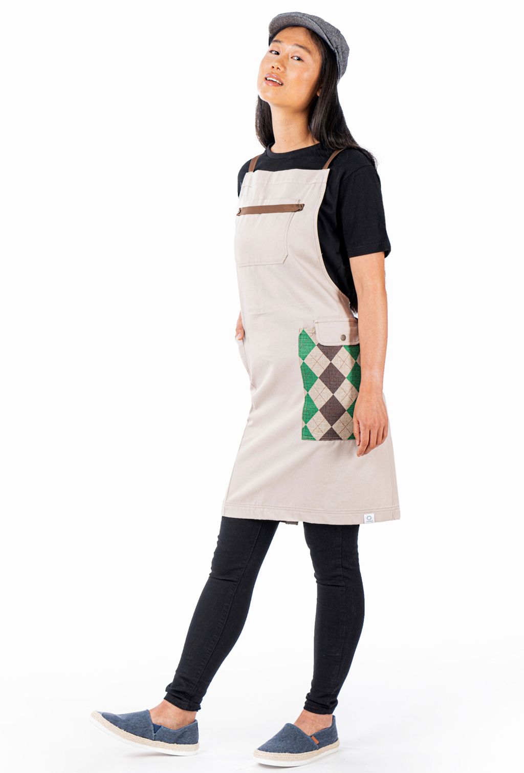 BIB APRON COMBINED POCKET ORGANIC FABRIC