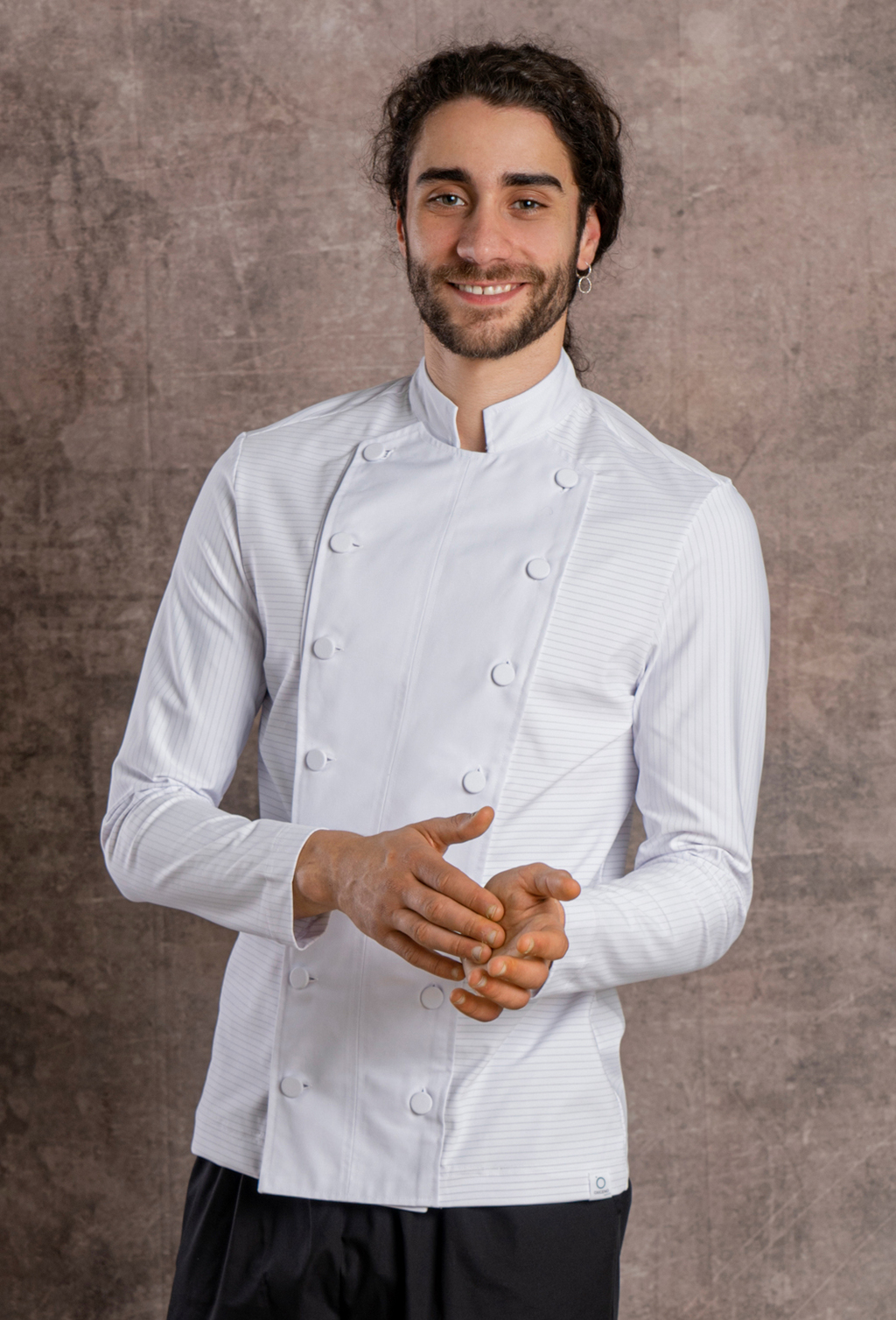 MEN'S CHEF JACKET RECYCLED AND CARBONO FABRIC
