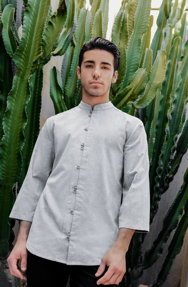TUNIC HOMME. MANCHE ORIENTAL