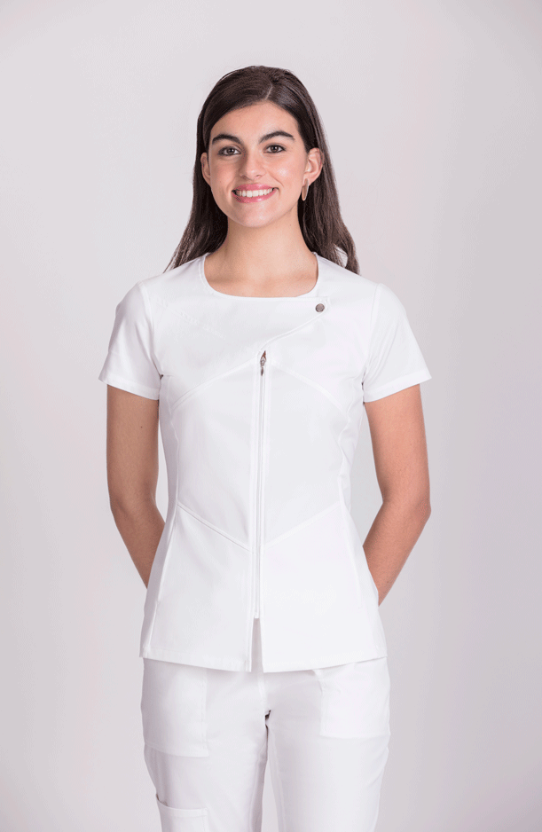 WOMEN'S S/S TUNIC BREASTED COLLAR
