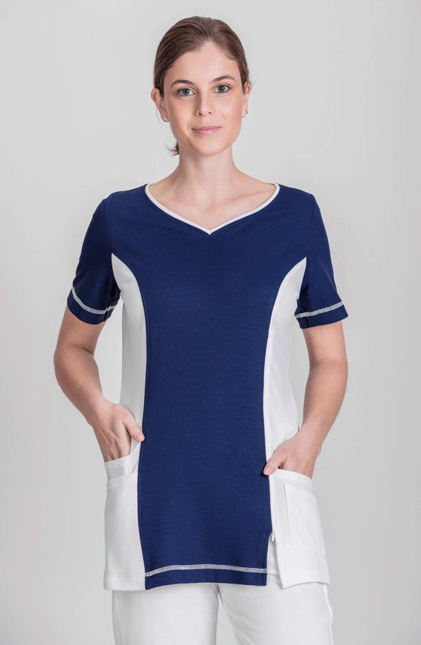 NATURA® WOMEN'S TUNIC TEAR NECKLINE BI-COLOR